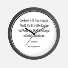 War and Weapons Wall Clock