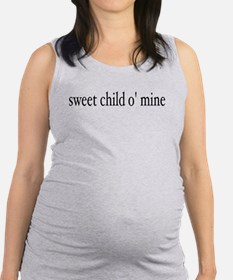 Funny Rock n roll baby Maternity Tank Top