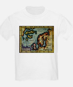"""Scandinavia/N. Europe Map"" T-Shirt"