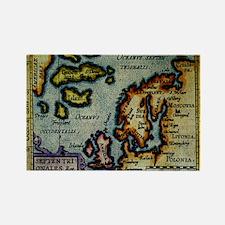 """Scandinavia/N. Europe Map"" Rectangle Magnet (10 p"