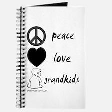 Peace Love Grandkids (b) Journal