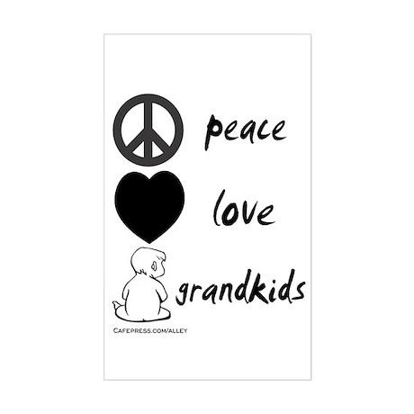 Peace Love Grandkids (b) Rectangle Sticker