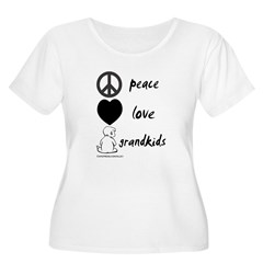 Peace Love Grandkids (b) T-Shirt