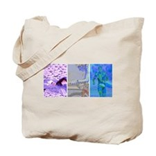SOLO TRIATHLON TRIPTYCH PAINTING 2 Tote Bag