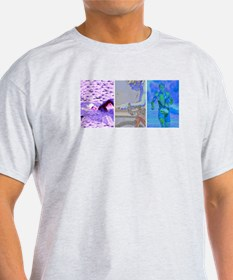 SOLO TRIATHLON TRIPTYCH PAINTING 2 T-Shirt