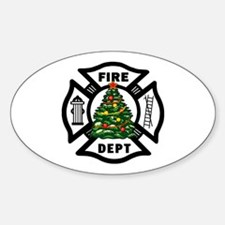 Firefighter Christmas Tree Decal