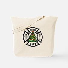 Firefighter Christmas Tree Tote Bag
