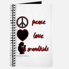 Peace Love Grandkids (r) Journal