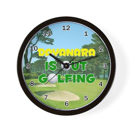 Dayanara is Out Golfing - Wall Clock
