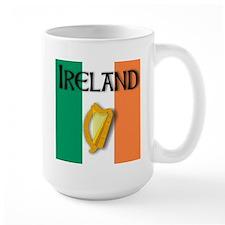 Ireland flag with Harp Mug
