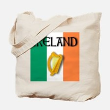 Ireland flag with Harp Tote Bag
