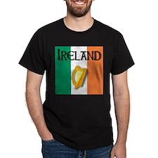 Ireland flag with Harp T-Shirt