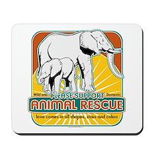 Animal Rescue Elephants Mousepad