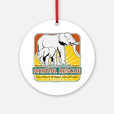 Animal Rescue Elephants Ornament (Round)