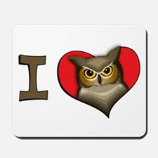 I heart owls Mousepad