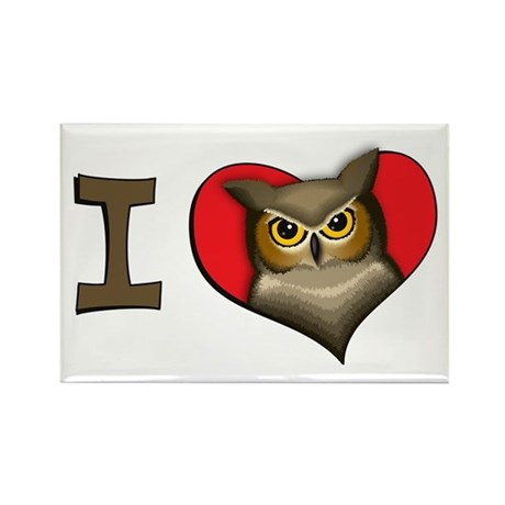 I heart owls Rectangle Magnet (10 pack)