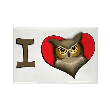 I heart owls Rectangle Magnet (100 pack)