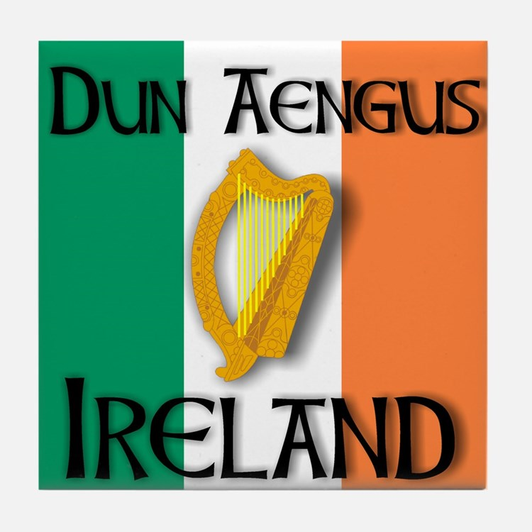 Dun Aengus Ireland Tile Coaster