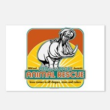 Animal Rescue Hippopotamus Postcards (Package of 8