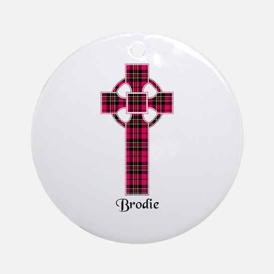 Cross - Brodie Round Ornament