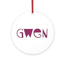 Gwen Ornament (Round)