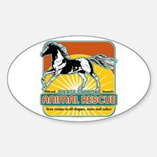 Animal Rescue Horse Oval Decal