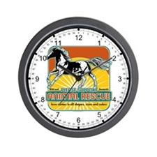 Animal Rescue Horse Wall Clock
