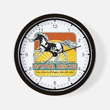 Animal Rescue Horse Wall Clock