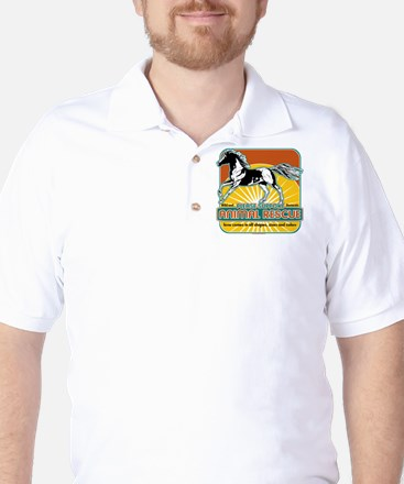 Animal Rescue Horse Golf Shirt
