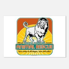 Animal Rescue Lion Postcards (Package of 8)