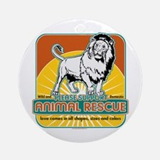 Animal Rescue Lion Ornament (Round)