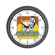 Animal Rescue Lion Wall Clock