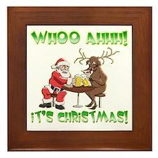 Whoo Ahhh! It's Christmas Framed Tile