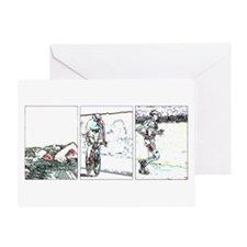 SOLO TRIATHLON TRIPTYCH LINE 2 Greeting Card