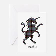 Unicorn - Brodie hunting Greeting Card
