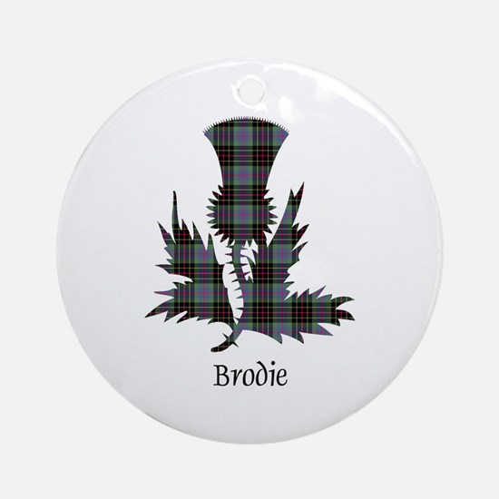 Thistle - Brodie hunting Round Ornament