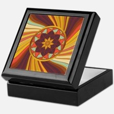 Unique Warm colors Keepsake Box