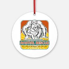 Animal Rescue Orangutan Ornament (Round)