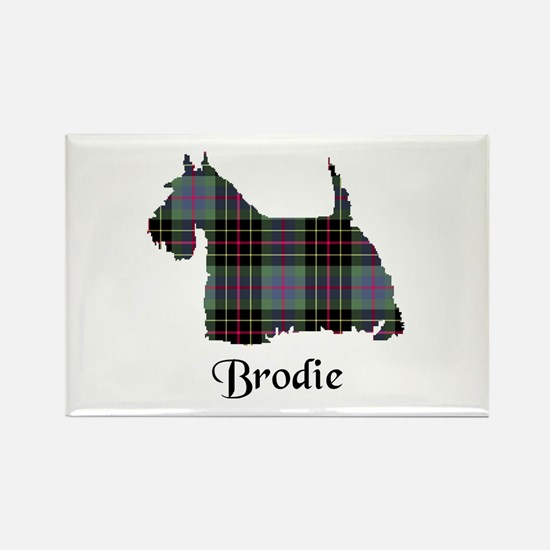 Terrier - Brodie hunting Rectangle Magnet