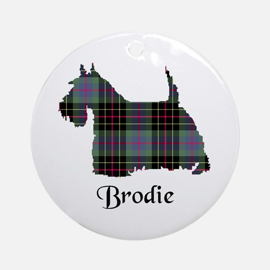 Terrier - Brodie hunting Round Ornament