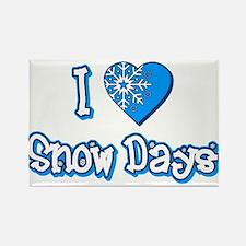 I Love [Heart] Snow Days Rectangle Magnet