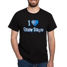 I Love [Heart] Snow Days Dark T-Shirt