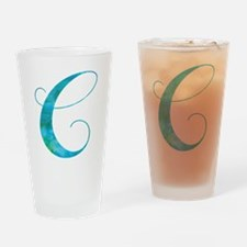 Cute Letter c Drinking Glass