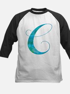 Turquoise Script Letter C Monogram Baseball Jersey