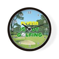 Elyssa is Out Golfing - Wall Clock