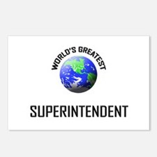 World's Greatest SUPERINTENDENT Postcards (Package