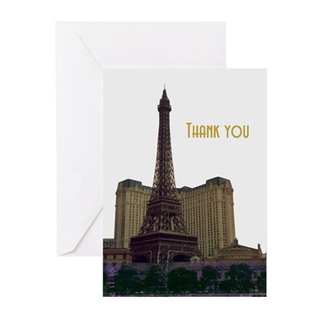 Las Vegas Eiffel Tower Thank you Cards 10
