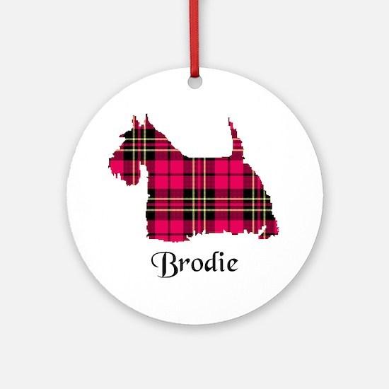 Terrier - Brodie Round Ornament