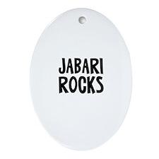 Jabari Rocks Oval Ornament