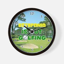 Estefania is Out Golfing - Wall Clock